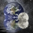 Stock Photo: earth and moon