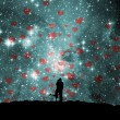 Royalty-Free Stock Photo: Space, love, hearts
