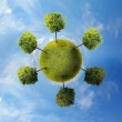 Planet with tree — Stock Photo