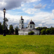 Blue church in Moscow — Stock Photo