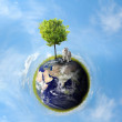 Planet with tree — Stock Photo #7193777