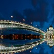 The Cathedral of Christ the Savior at night, Moscow, Russia — Stock Photo #7909083