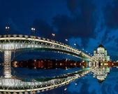 Gece, moskova, rusya, kurtarıcı i̇sa katedrali — Stok fotoğraf