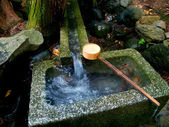 Traditional Bamboo Fountain in Japan — Stock Photo