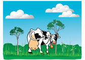 Cute cow — Stock Vector