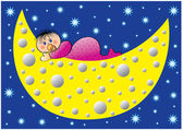 Moonbaby — Stock Vector