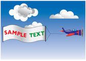 Pulicity Plane — Stock Vector