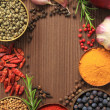 Royalty-Free Stock Photo: Spices frame