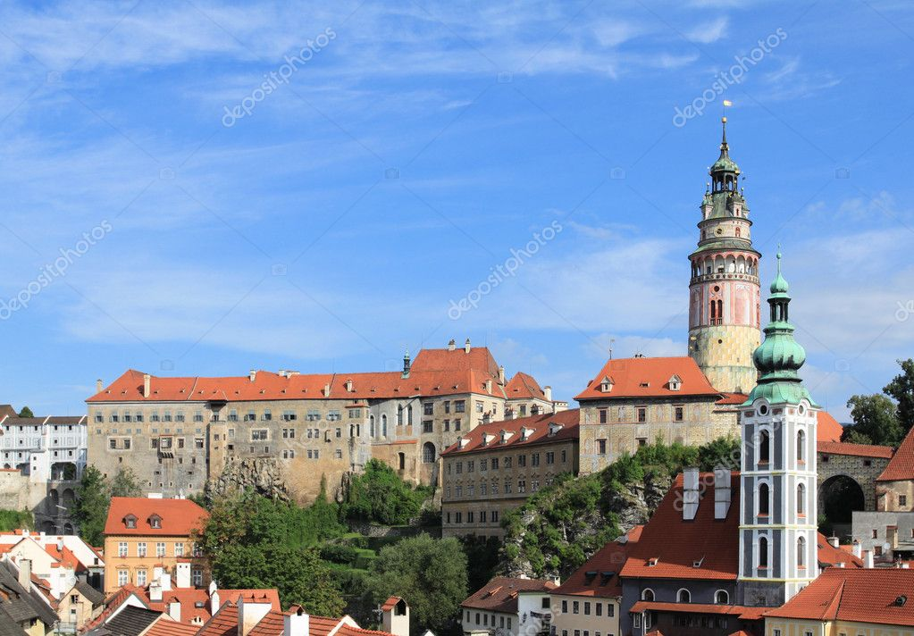Cesky Krumlov, Czech Republic - town listed as UNESCO World Heritage Site  Stock Photo #6942579