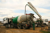Concrete mixer truck — Stock Photo