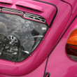 Stock Photo: Pink vintage car