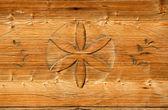 Wooden retro decoration — Stock Photo
