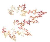 Autumn fractal leaves — Stock Photo