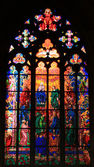Pentecost (also called Whitsunday) depicted in St. Vitus Cathedral in Prague, Czech Republic — Fotografia Stock