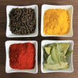 Stock Photo: Four spices