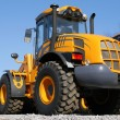 Stock Photo: Yellow dozer