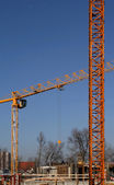 Industrial cranes — Stock Photo