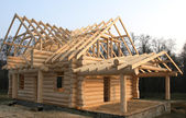 Wooden home construction — Stock Photo
