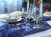 Christmas table — Stock Photo
