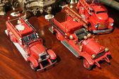 Toy fire trucks — Stock Photo