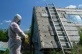 Asbestos disposal — Stock Photo