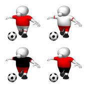 Logoman soccer player red — Stock Photo