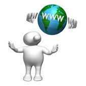 Logoman www-world — Stock Photo