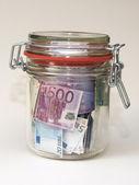 Money in preserving jar (2) — Foto Stock