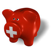 Piggy bank - Switzerland — Stock Photo