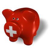 Piggy bank - Switzerland — Stock Photo