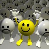 Mr.Smilie - happy vs sad — Stock Photo