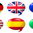 Speech balloon - nations — Stock Photo