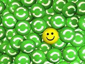 Smartey - eco smile — Stock Photo