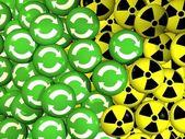 Smartey - eco vs. nuclear — Stock Photo