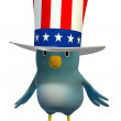 Bluebert as Uncle Sam - Foto de Stock