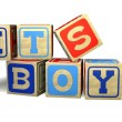 Baby Blocks - IT'S A BOY — Stock Photo