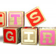 Baby Blocks - IT'S A GIRL — Stock Photo