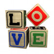 Baby Blocks - LOVE - Stockfoto