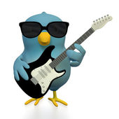 Bluebert as rockstar — Stock Photo