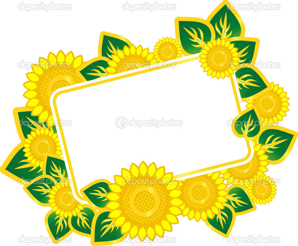 Sunflowers in a beautiful song — Stock Vector #6923526