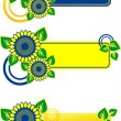 Sunflower banner — Stock Vector