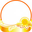 Royalty-Free Stock Vector Image: Banner round with sunflowers