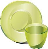 Glassware — Stock Vector