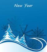 Nuovo anno, Natale, vacanza cornici, sfondo, striscione — Vettoriale Stock