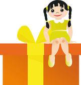 Children's gift — Stock Vector
