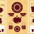 A set of utensils for tea coffee — Stock Vector