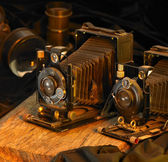 Still life with nostalgic cameras — Stock Photo