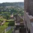 Sunny scenery around Wertheim Castle - Stock Photo