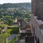 Sunny scenery around Wertheim Castle — Stock Photo