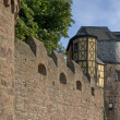 Wertheim Castle detail at summer time - Stock Photo